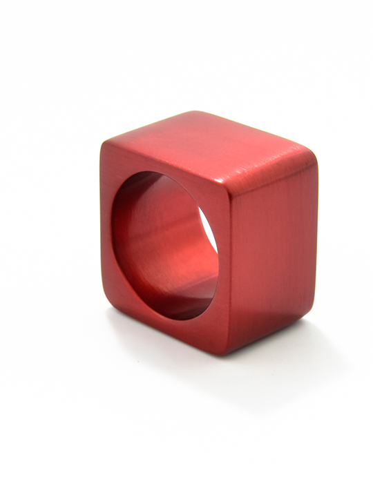 """Tectonics"" robust aluminium ring - Alpha"