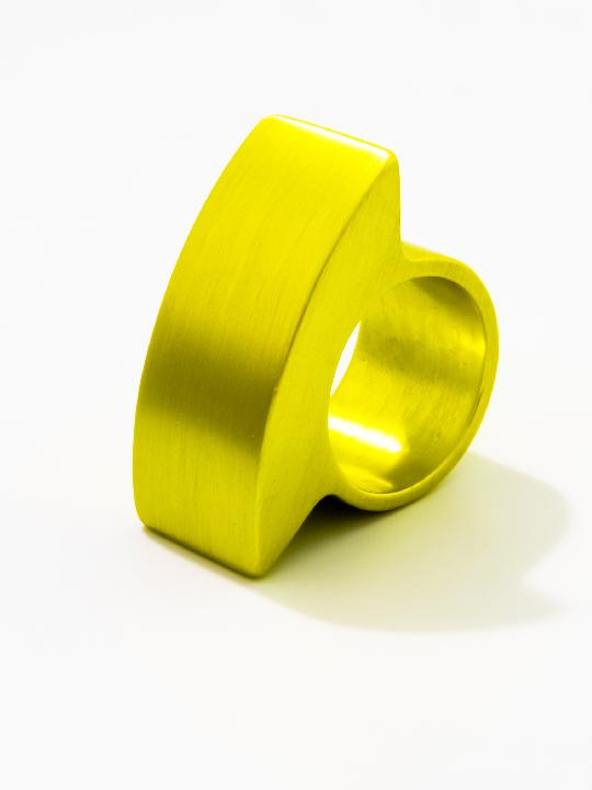 """Tectonics"" robust aluminium ring - Delta"