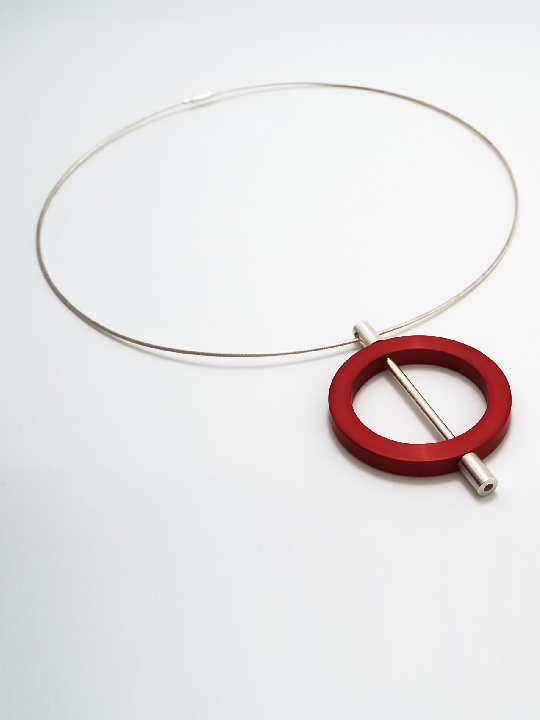 aluminium and silver pendant - circle