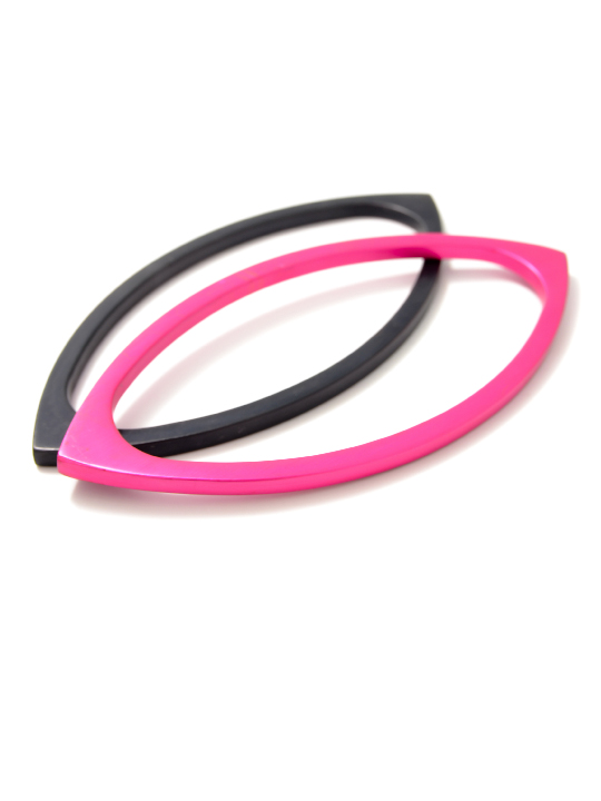 flat navette shaped bangle